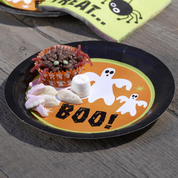 Happy Halloween Ghost Paper Plates (8)